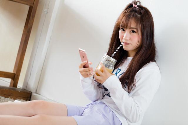 暇なスムージー女子の写真