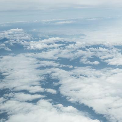 「上空からの雲」の写真素材