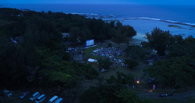 徳之島畦プリンスビーチと野外シネマの写真