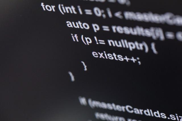 公開されたソースコードの写真