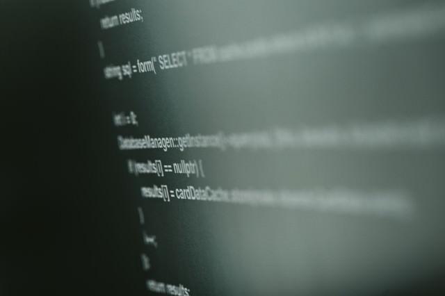 とあるソースコードの写真
