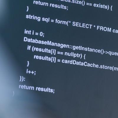 「ソースコードをウェブで公開しちゃいました」の写真素材