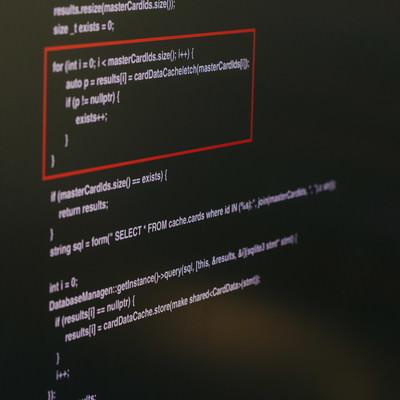 「ソースコードを開示」の写真素材