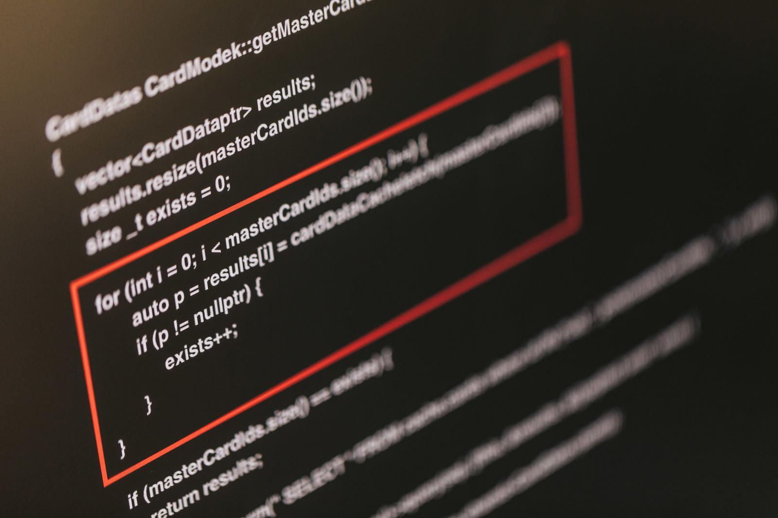 「想定していない挙動が発生したソースコード想定していない挙動が発生したソースコード」のフリー写真素材を拡大