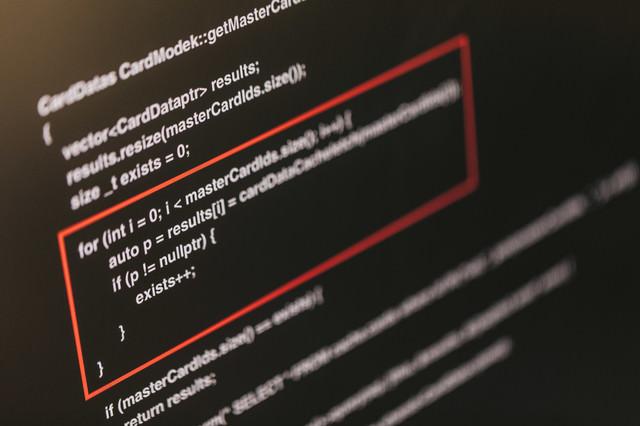 想定していない挙動が発生したソースコードの写真