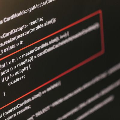 「想定していない挙動が発生したソースコード」の写真素材