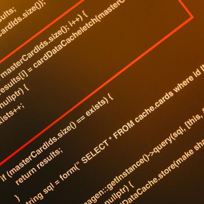 「ソースコード釈明」の写真素材