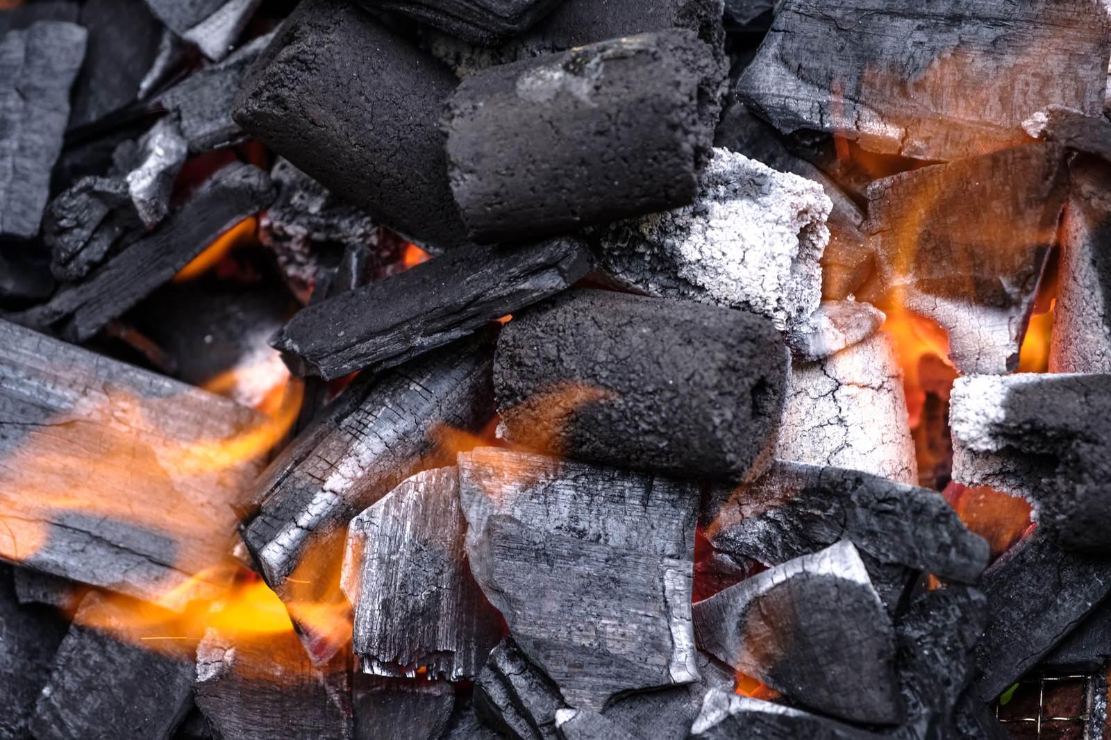「木炭と炎木炭と炎」のフリー写真素材を拡大