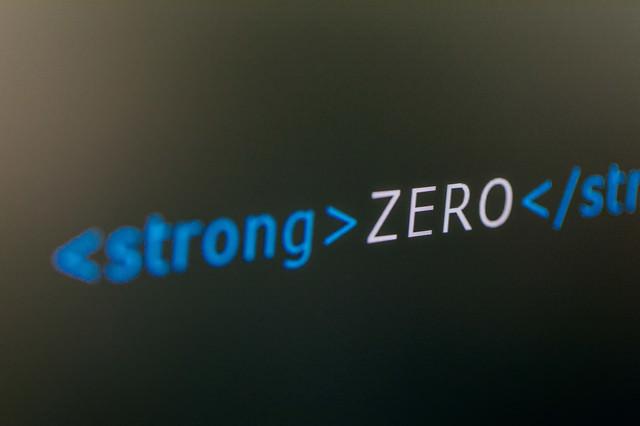 ストロングで強調するゼロの写真