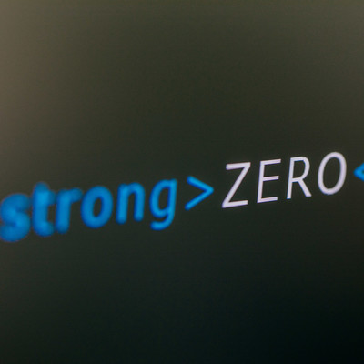 「ストロングで強調するゼロ」の写真素材