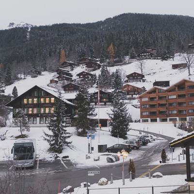 グリンデルワルトの冬(スイス)の写真
