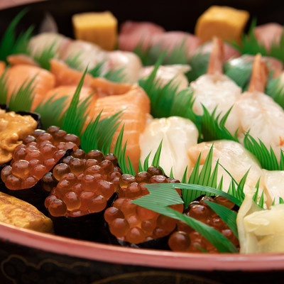 宅配寿司の写真