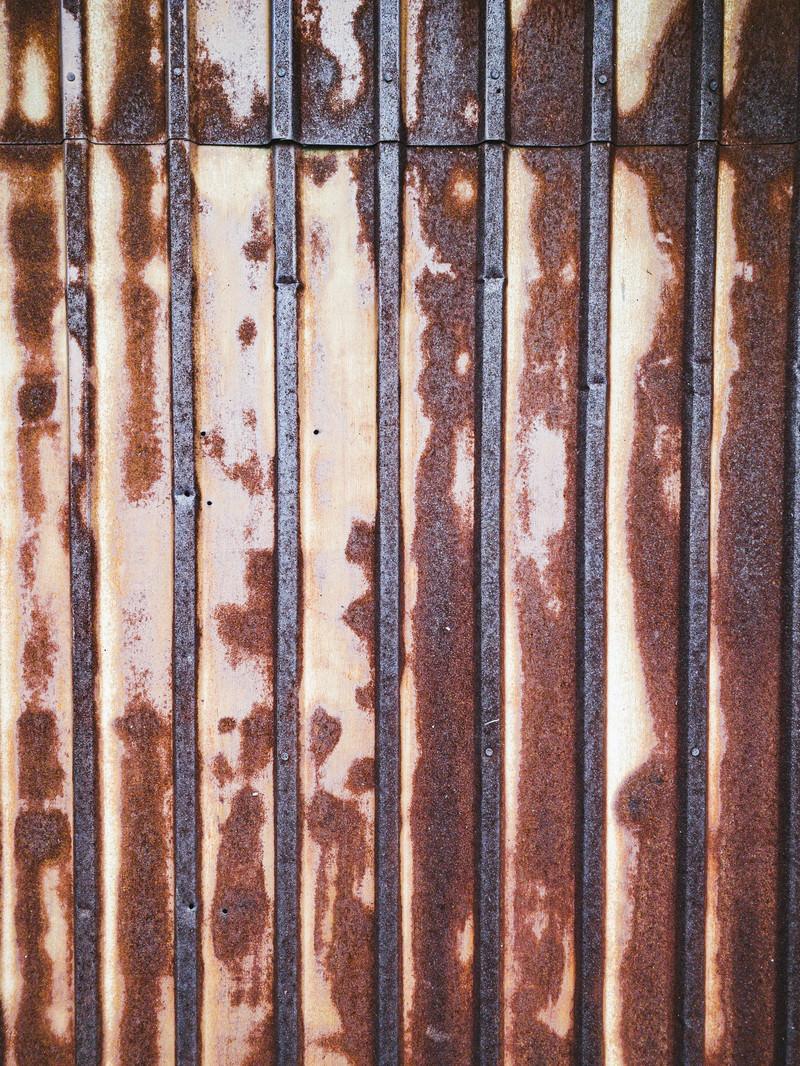 「錆び付いたトタンの壁(テクスチャ)」の写真