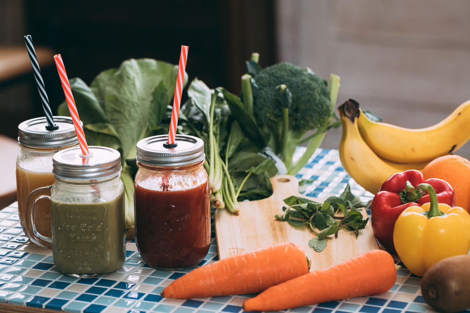 「緑黄色野菜のスムージー」の写真