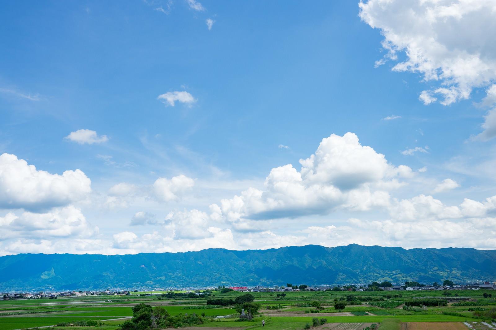 「大刀洗の田園風景大刀洗の田園風景」のフリー写真素材を拡大