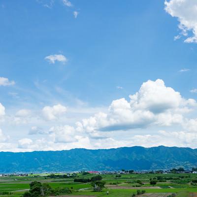 「大刀洗の田園風景」の写真素材