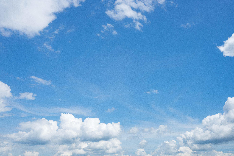 雲が出てきた晴れ日