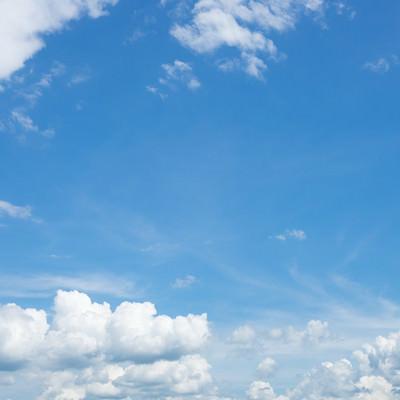 雲が出てきた晴れ日の写真