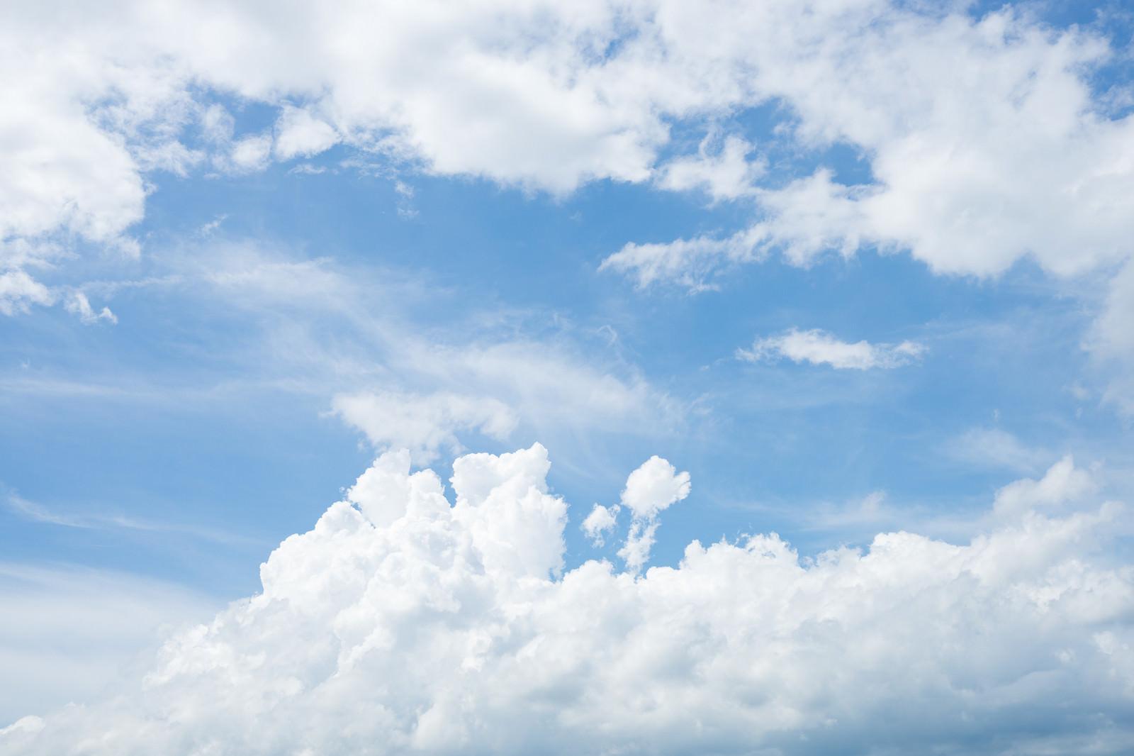 「空全体の雲量が8割までは晴れ空全体の雲量が8割までは晴れ」のフリー写真素材を拡大