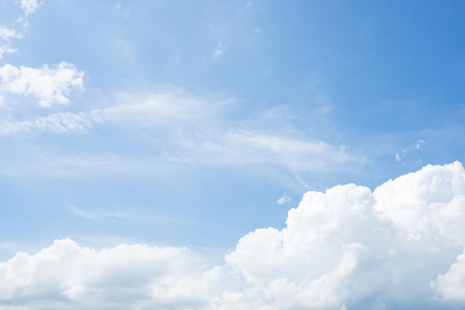 「青空と雲青空と雲」のフリー写真素材を拡大