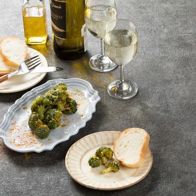 「ワインによくあう米粉のブロッコリーから揚げ」の写真素材