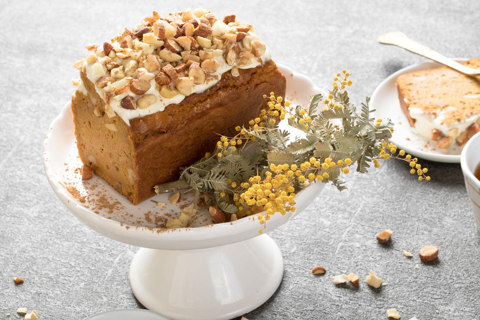 「グルテンフリーのにんじんケーキ」の写真