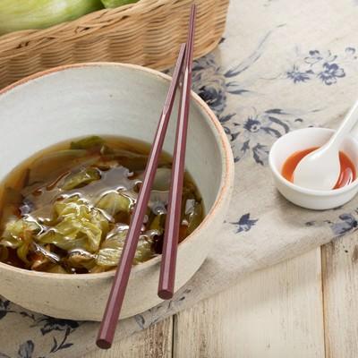 「レタスのスープとラー油」の写真素材