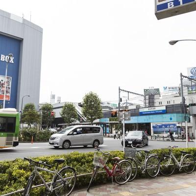 「高田馬場駅前の様子」の写真素材