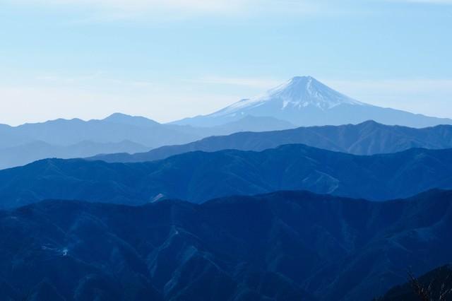 大岳山(東京)からの眺めの写真