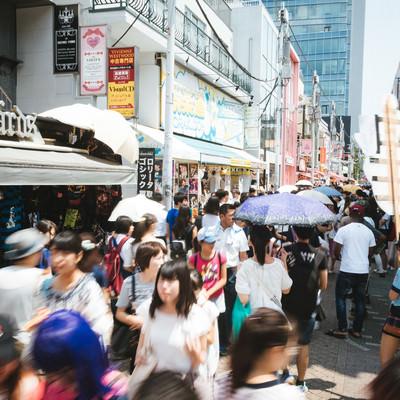 原宿竹下通りの混雑の写真