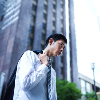 「挫けないやり手の営業マン」の写真素材