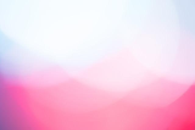寒色と暖色の光(ボケ)の写真