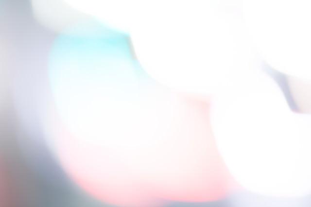 閃光とボケ味の写真