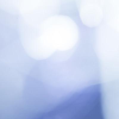 寒色の光ボケの写真