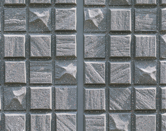 正方形のいびつなタイル(テクスチャ)の写真