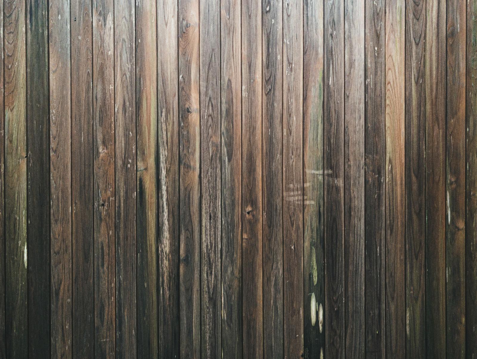 「板を張り詰めた壁(テクスチャ)」の写真