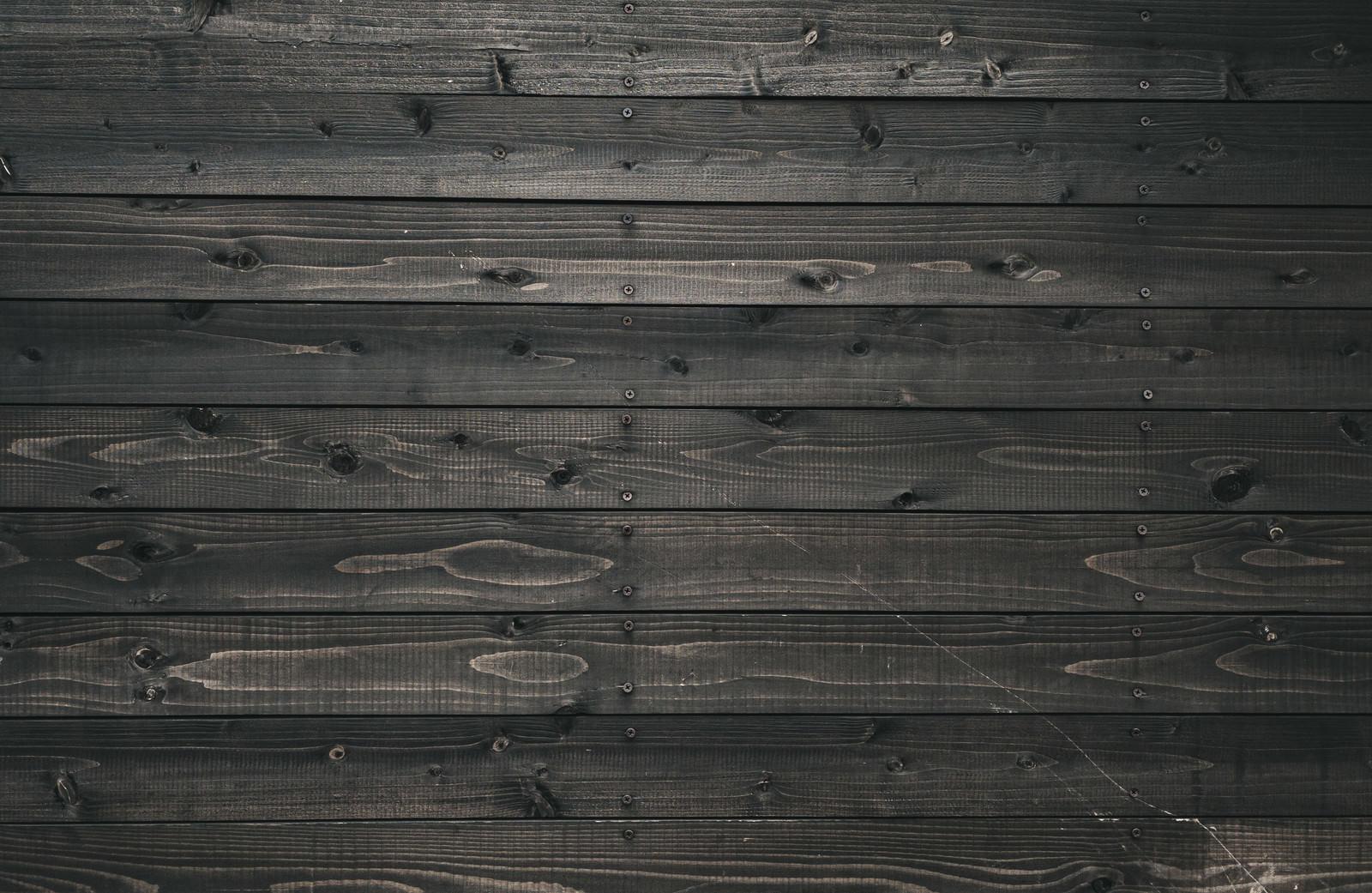 「渋墨の板壁(テクスチャ)」の写真