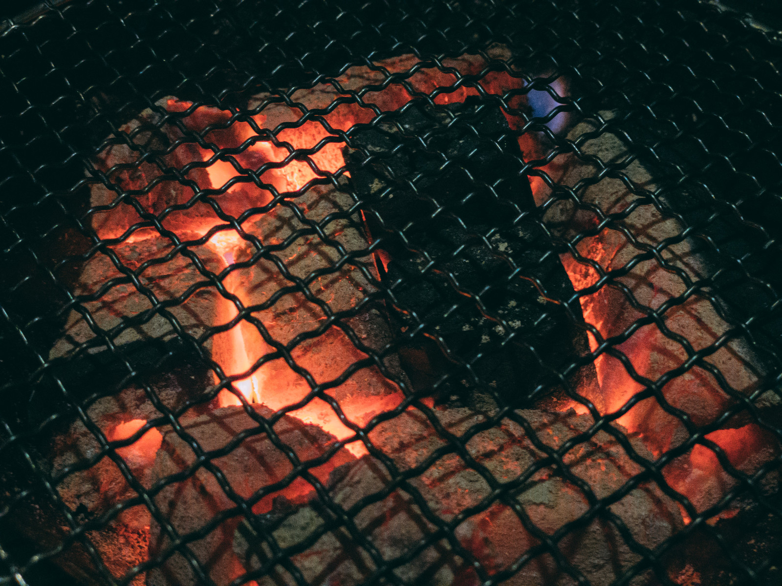 「網と備長炭」の写真