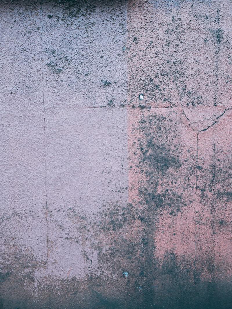 「ヒビ割れした壁」の写真