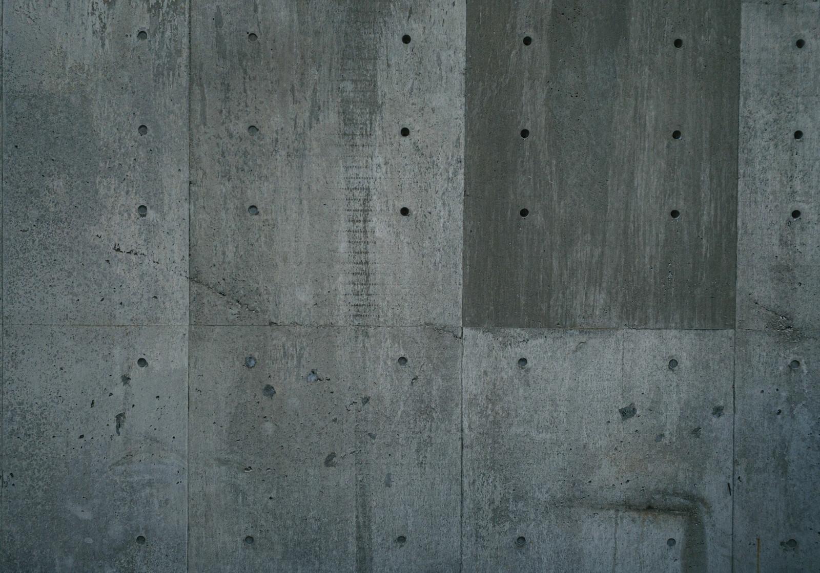 「殺風景なコンクリートの壁(テクスチャ)」の写真