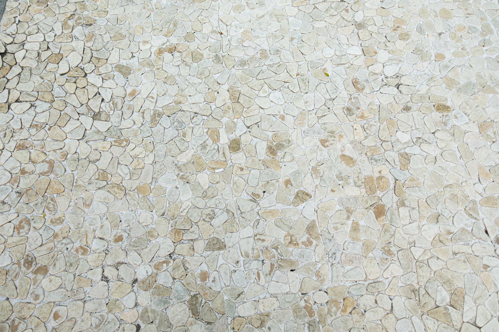 「白い石のタイル(テクスチャ)」の写真
