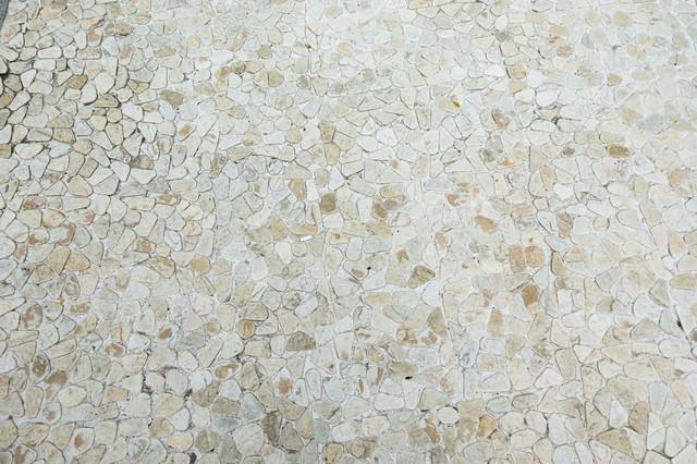 白い石のタイル(テクスチャ)の写真