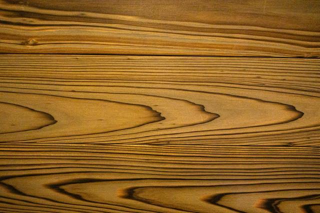 木目の板(テクスチャ)の写真