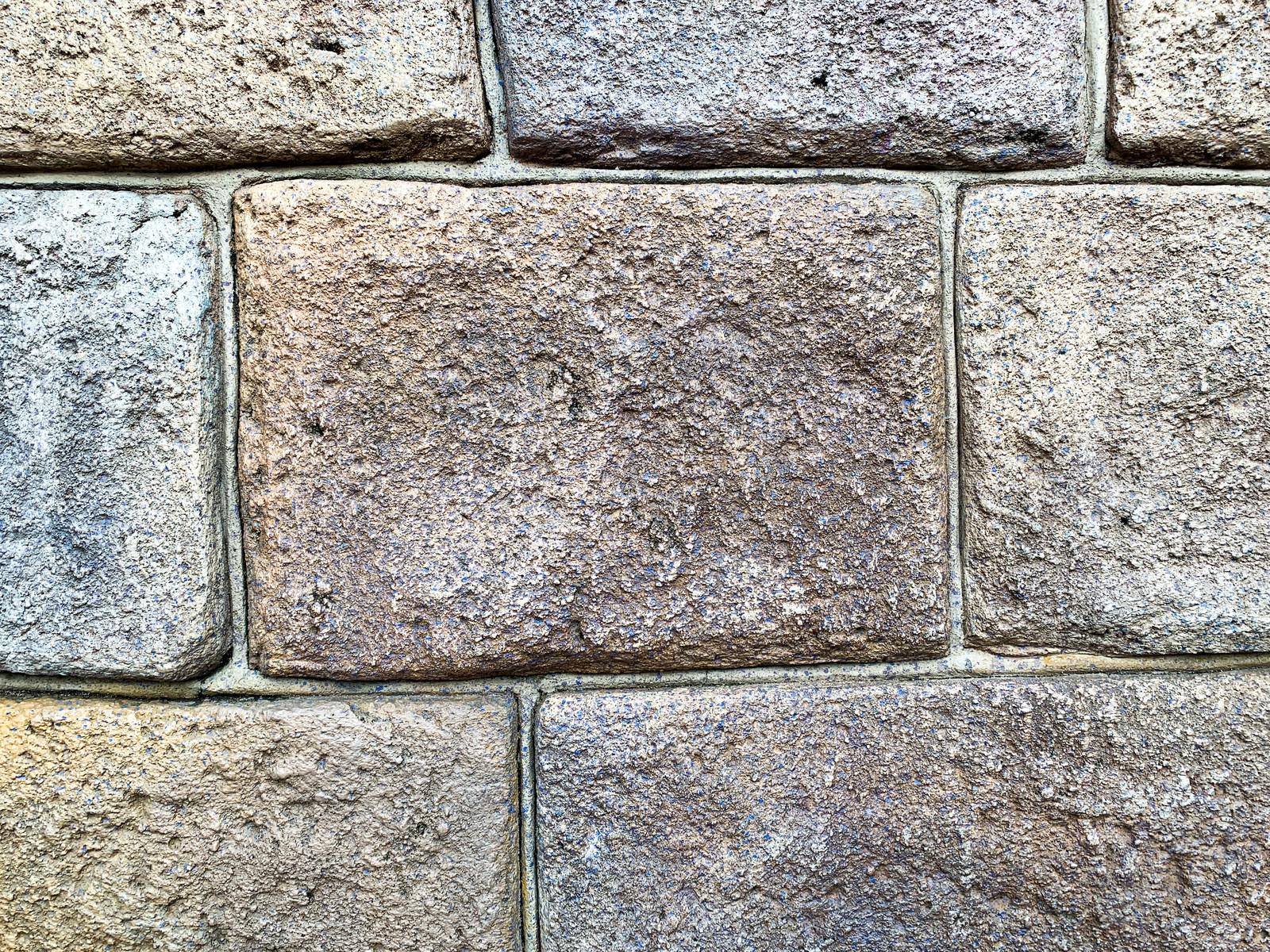 「大きめの石のタイル(テクスチャ)」の写真