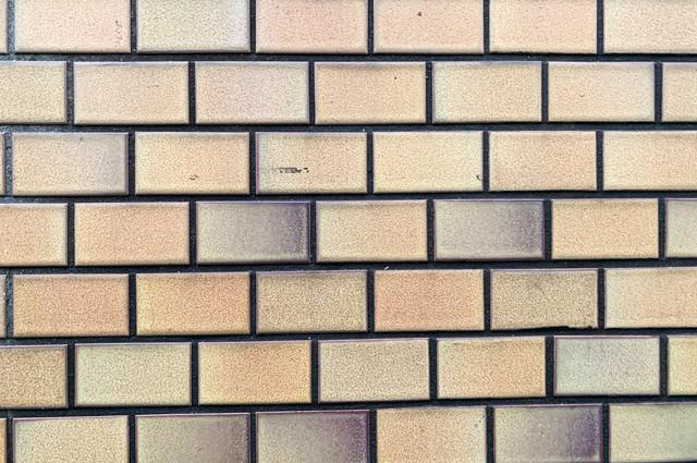 色褪せたパステルカラーのタイル(テクスチャ)の写真