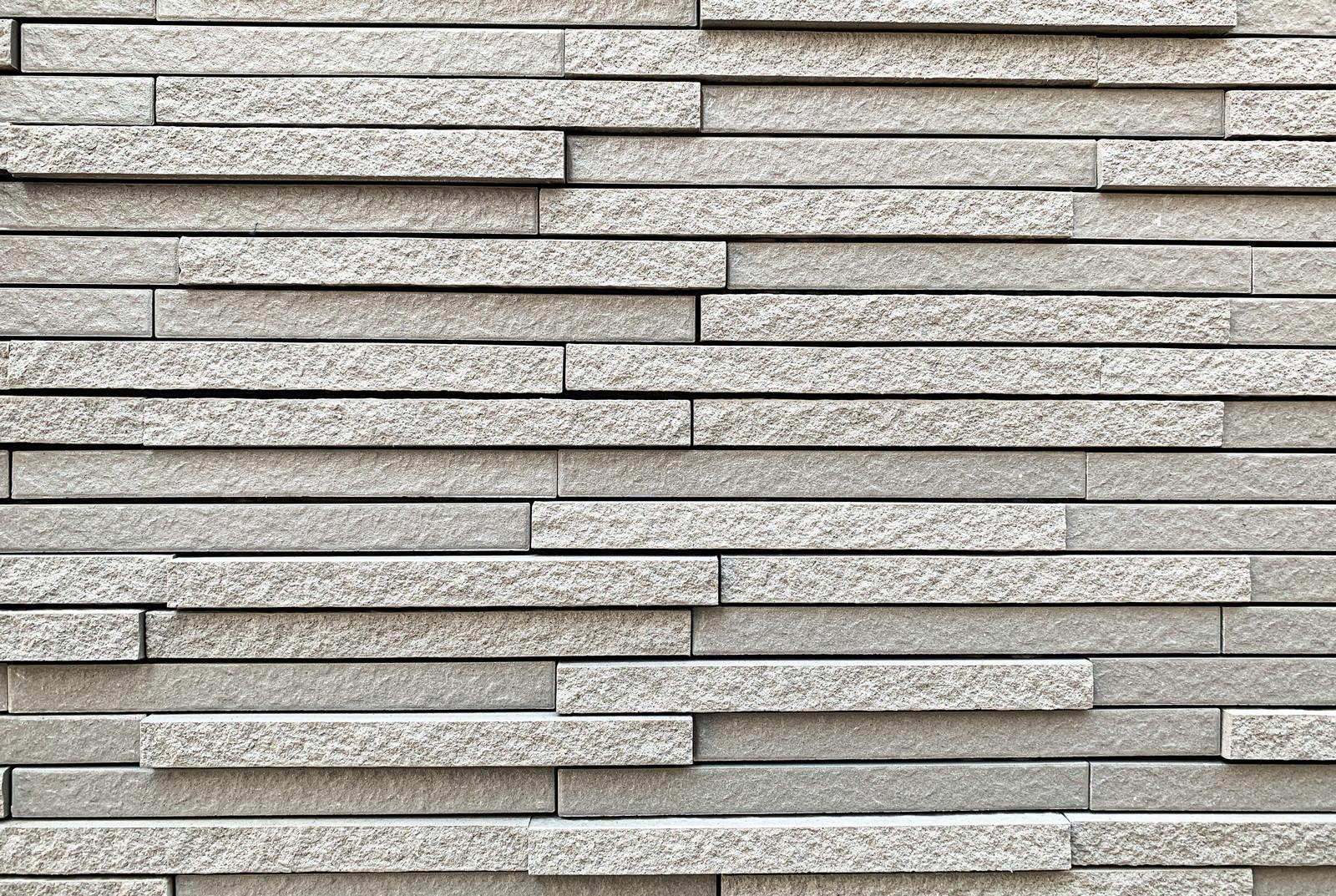 「細長い凸凹外壁用タイル(テクスチャ)」の写真