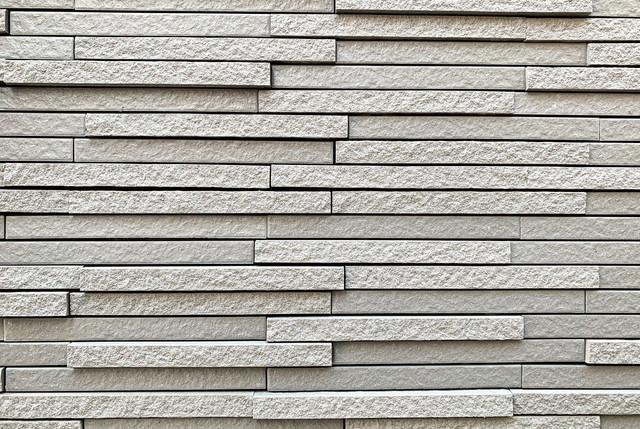 細長い凸凹外壁用タイル(テクスチャ)の写真
