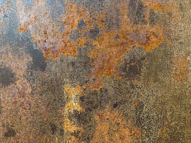 錆び付いた鉄板のテクスチャの写真