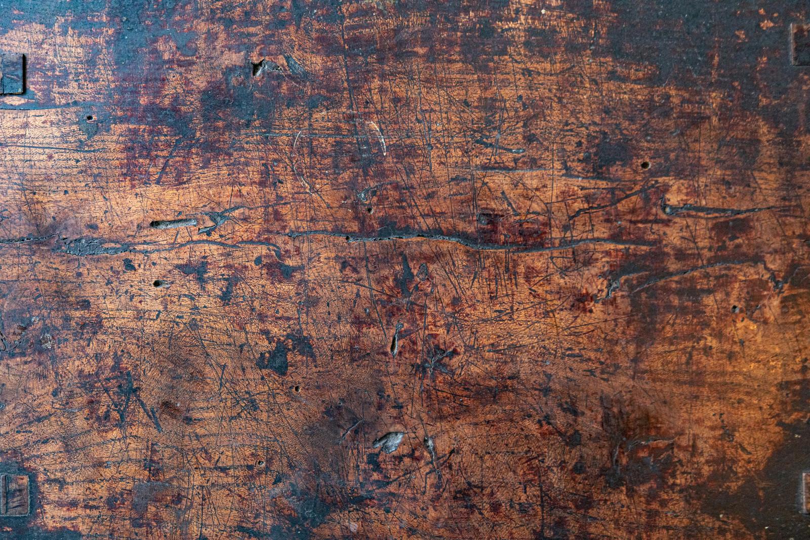 「古い木のテーブル(テクスチャ)」の写真