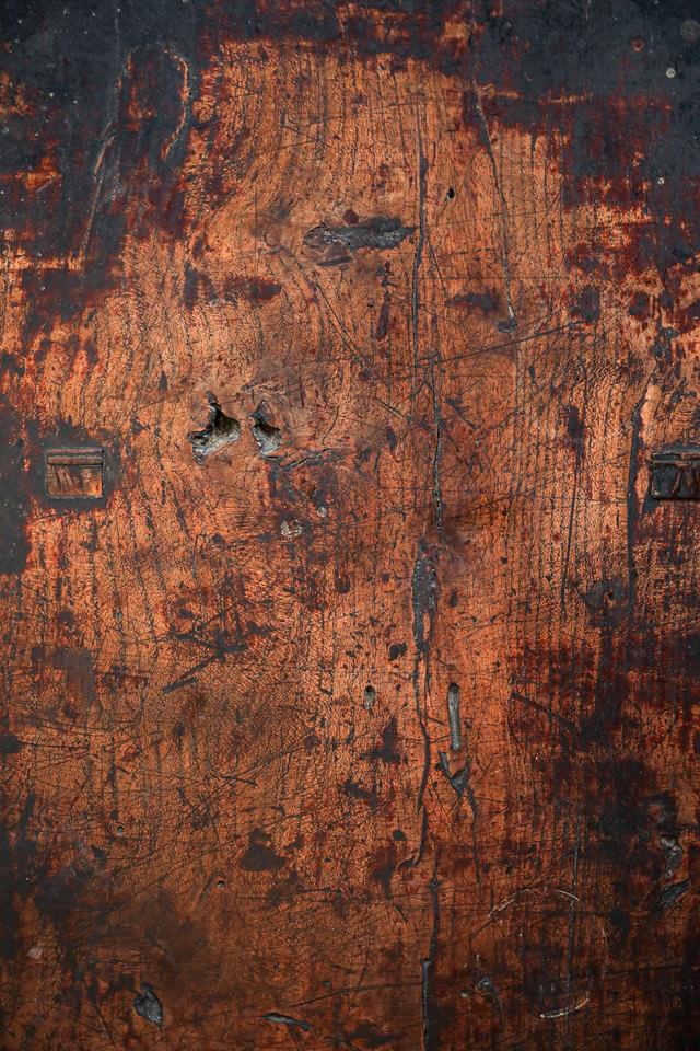 古い木目板の写真